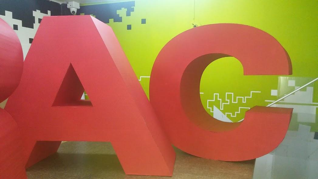 letras gigantes en carton