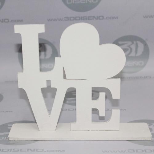 letras love en madera